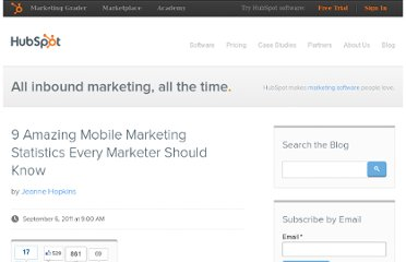 http://blog.hubspot.com/blog/tabid/6307/bid/24082/9-Amazing-Mobile-Marketing-Statistics-Every-Marketer-Should-Know.aspx