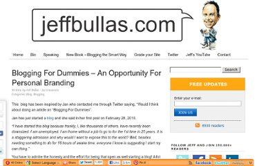 http://www.jeffbullas.com/2010/03/03/blogging-for-dummies-an-opportunity-for-personal-branding/