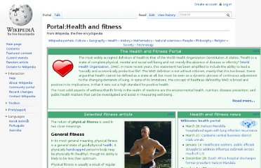 http://en.wikipedia.org/wiki/Portal:Health_and_fitness