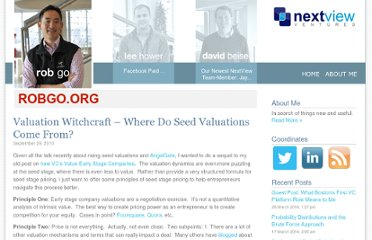 http://robgo.org/2010/09/29/valuation-witchcraft-where-do-seed-valuations-come-from/