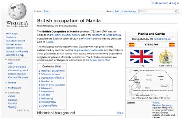 http://en.wikipedia.org/wiki/British_occupation_of_Manila