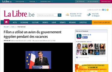 http://www.lalibre.be/actu/international/article/641404/fillon-a-utilise-un-avion-du-gouvernement-egyptien-pendant-des-vacances.html
