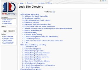 http://leakdirectory.org/index.php/Leak_Site_Directory#WikiLeaks-Like_Whistle_blowing_Sites