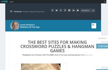 http://larryferlazzo.edublogs.org/2008/10/10/the-best-sites-for-making-crossword-puzzles-hangman-games/