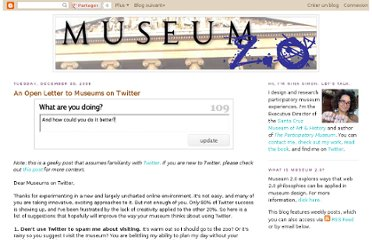 http://museumtwo.blogspot.com/2008/12/open-letter-to-museums-on-twitter.html