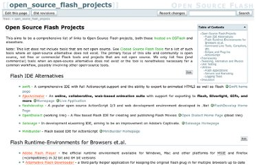 http://osflash.org/open_source_flash_projects