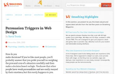 http://uxdesign.smashingmagazine.com/2010/11/29/persuasion-triggers-in-web-design/