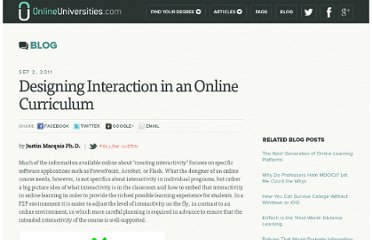 http://www.onlineuniversities.com/blog/2011/09/designing-interaction-in-an-online-curriculum/