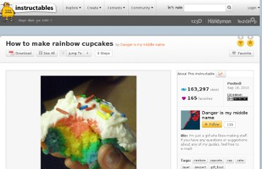 http://www.instructables.com/id/How-to-make-rainbow-cupcakes/