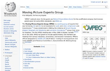 http://en.wikipedia.org/wiki/Moving_Picture_Experts_Group