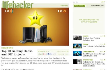 http://lifehacker.com/5758479/top-10-gaming-hacks-and-diy-projects