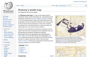 http://en.wikipedia.org/wiki/Ptolemy%27s_world_map