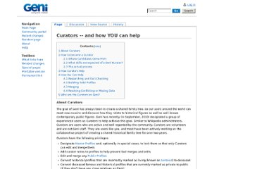 http://wiki.geni.com/index.php/Curators_--_and_how_YOU_can_help