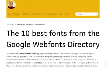 http://opentype.info/blog/2011/09/04/the-10-best-fonts-from-the-google-webfonts-directory/