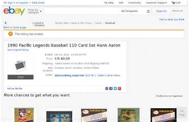 http://www.ebay.com/itm/1990-Pacific-Legends-Baseball-110-Card-Set-Hank-Aaron-/170407161887