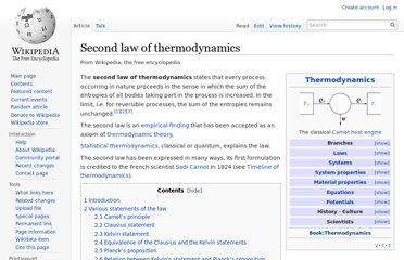http://en.wikipedia.org/wiki/Second_law_of_thermodynamics