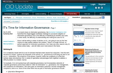 http://www.cioupdate.com/insights/article.php/3917496/ITs-Time-for-Information-Governance.htm