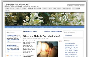 http://www.diabetes-warrior.net/2011/03/24/when-is-a-diabetic-toe-just-a-toe/