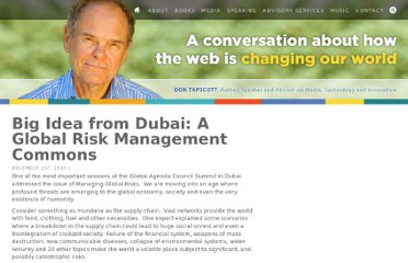 http://dontapscott.com/2010/12/big-idea-from-dubai-a-global-risk-management-commons/
