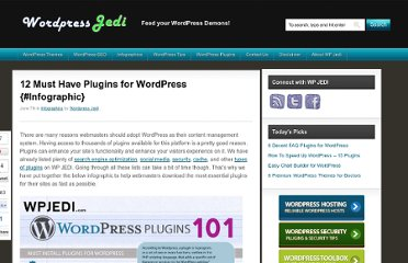http://www.wpjedi.com/must-have-wordpress-plugins/
