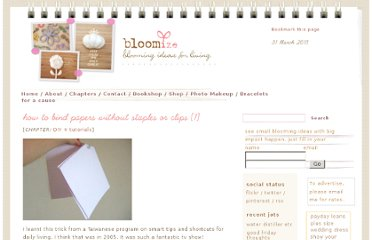 http://www.bloomize.com/how-to-bind-papers-without-staples-or-clips/