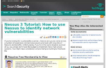 http://searchsecurity.techtarget.com/tutorial/Nessus-3-Tutorial