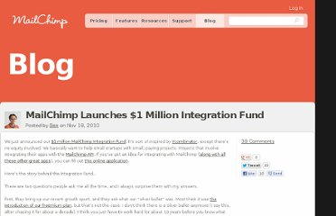 http://blog.mailchimp.com/mailchimp-launches-1-million-integration-fund/