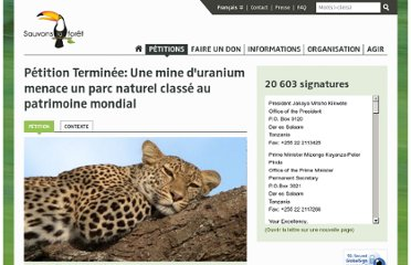 https://www.sauvonslaforet.org/petitions/711/une-mine-d-uranium-menace-un-parc-naturel-classe-au-patrimoine-mondial