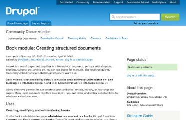 http://drupal.org/documentation/modules/book