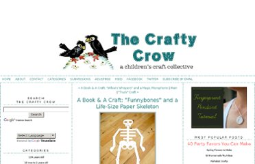 http://www.thecraftycrow.net/2011/06/a-book-a-craft-funnybones-paper-skeleton.html