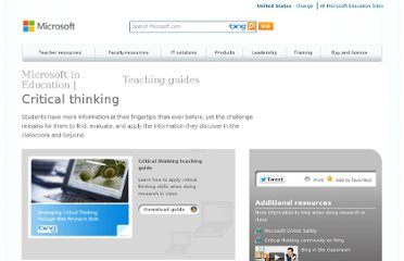 http://www.microsoft.com/education/en-us/teachers/guides/Pages/critical_thinking.aspx