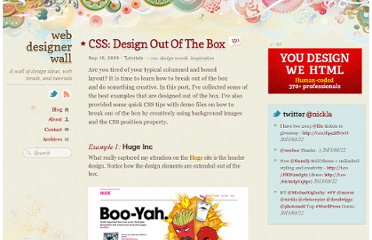 http://webdesignerwall.com/tutorials/css-design-out-of-the-box