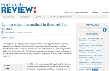 http://www.paristechreview.com/2010/06/07/le-mea-culpa-des-maths-a-la-finance-pas-encore/