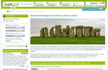 http://www.isango.com/london-tours/stonehenge-tours-from-london