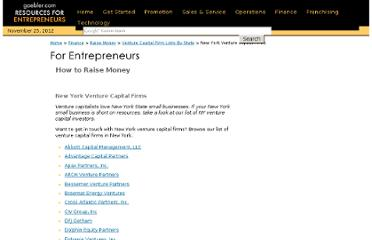 http://www.gaebler.com/New-York-venture-capital-firms.htm
