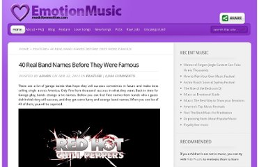 http://musicforemotion.com/40-real-band-names-before-they-were-famous/