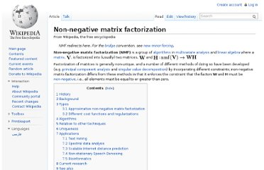 http://en.wikipedia.org/wiki/Non-negative_matrix_factorization