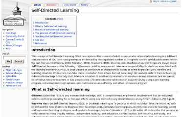 http://www.adulteducation.wikibook.us/index.php?title=Self-Directed_Learning