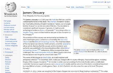 http://en.wikipedia.org/wiki/James_Ossuary