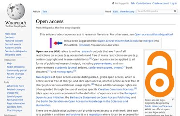 http://en.wikipedia.org/wiki/Open_access