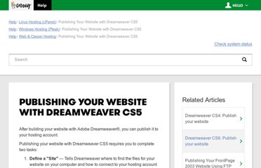 http://community.godaddy.com/help/article/5748/publishing-your-website-with-dreamweaver-cs5