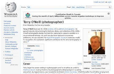 http://en.wikipedia.org/wiki/Terry_O%27Neill_(photographer)