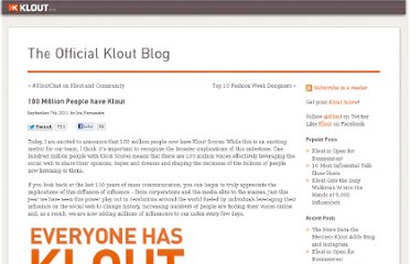 http://corp.klout.com/blog/2011/09/100-million-people-have-klout/