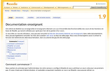 http://docs.moodle.org/19/fr/Documentation_enseignant