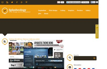 http://www.splashnology.com/article/50-free-wordpress-themes-collection-2010/246/