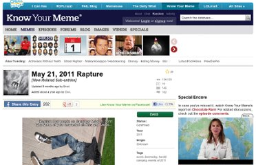 http://knowyourmeme.com/memes/events/may-21-2011-rapture#.TdqOS1ttxK0