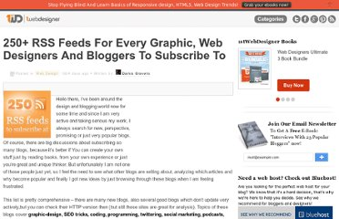 http://www.1stwebdesigner.com/design/250-rss-feeds-for-every-graphic-web-designers-and-bloggers-to-subscribe-at/