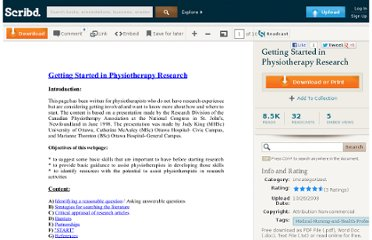 http://es.scribd.com/doc/7538270/Getting-Started-in-Physiotherapy-Research