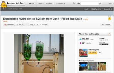 http://www.instructables.com/id/Expandable-Hydroponics-System-from-Junk-Flood-an/