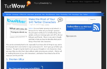 http://www.tutwow.com/twitter/make-the-most-of-your-140-twitter-characters/